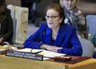 Henrietta Fore speaks in the UN Security Council on Yemen