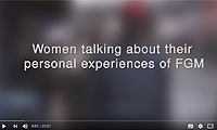 Women talking about their personal experiences of female genital mutilation (FGM)