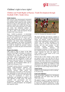 Children and Youth Rights in Practice: Youth Development through Football (YDF) / South Africa